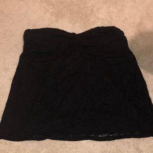 Torrid black lace tube top size 2
